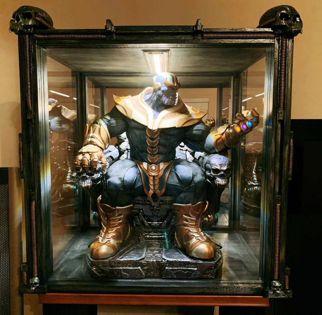 Custom Thanos On Throne Display Chamber