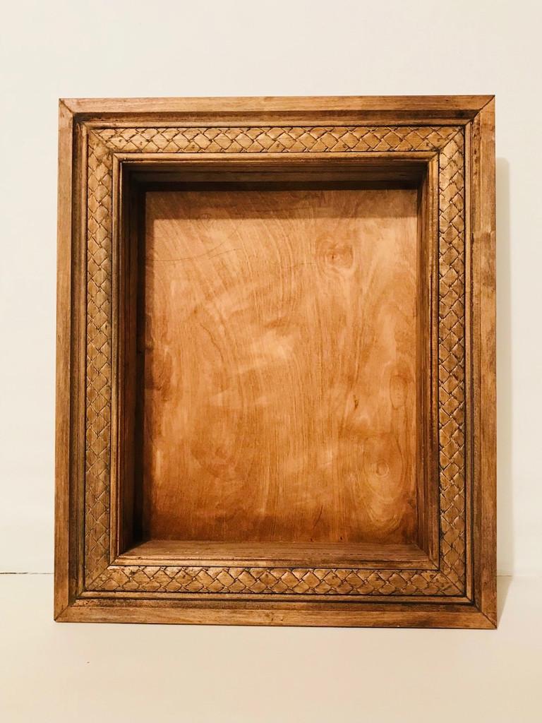 Shadow Box with Decorative Braided Frame - 16 x 20