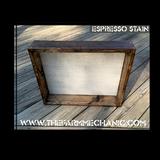 """Shadow Box - Artisan Rustic -24"""" W x 20"""" H x 2"""" D Espresso"""