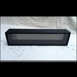 "Shadow Box - Artisan Rustic -35"" W x 7"" H x 6"" D Black"