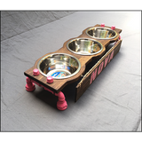 Elevated Dog Feeding Station - Small with 3 Bowls
