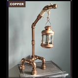Longneck Black Pipe Lantern - The Farm Mechanic