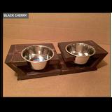 Artisan Hand Sculpted Dog Bowl Stand