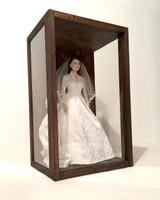"Artisan Rustic Glass Display Case - 11"" W x 19"" H x 8"" D"