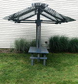 Artisan Galvanized Steel Canopy Table