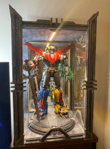 Custom VOLTRON Specialty – Enhanced 3-Sided UV-Protected Glass Display Case with Mirrored Backing | Custom Artisan Collection