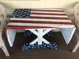 American Flag Drop Leaf Table