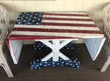 American Flag Drop Leaf Table