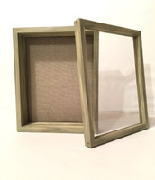 "Shadow Box - Artisan Rustic -16""W x 20""H x 1""D Rustic Green"