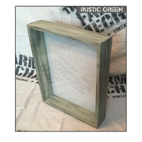 "Shadow Box - Artisan Rustic -16""W x 16""H x 3""D Rustic Green"
