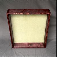 """Shadow Box - Artisan Rustic -20""""W x 20""""H x 2""""D Black Cherry"""