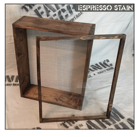 """Shadow Box - Artisan Rustic -16""""W x 20""""H x 6""""D Espresso"""