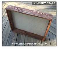 "Shadow Box - Artisan Rustic -16""W x 20""H x 6""D Cherry"