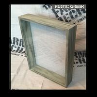 "Shadow Box - Artisan Rustic -16""W x 20""H x 6""D Rustic Green"