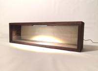 """Shadow Box Frame - 28"""" x 7"""" x 2""""D Display Case 