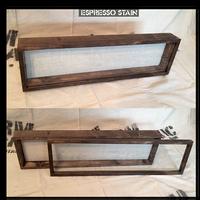 """Shadow Box - Artisan Rustic -35"""" W x 11"""" H x 1"""" D Espresso"""