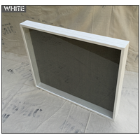 "Shadow Box - Artisan Rustic -35"" W x 11"" H x 1"" D White"
