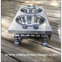 "Raised Dog Bowl Stand- Medium - 7"" Height"