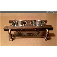 Artisan Raised Dog Feeding Station-Infinity Design
