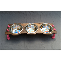 Dog Bowl Stand - Small with 3 Bowls