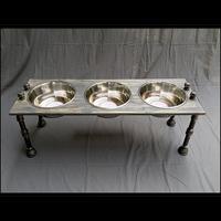 Dog Feeding Station - Large with 3 Bowls