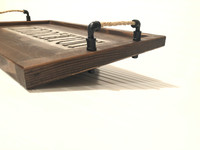 Artisan Serving Tray with Personalized  Concrete Inlay