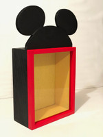 Mickey Mouse Inspired Display Case, 11x14. DEEP Shadow Box, 3 inches Deep, Pin Display | Artisan Rustic Collection
