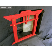 "Japanese Inspired Shadow Box Frame - 11"" x 15"" x 5""D - Red and Black 
