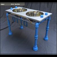 "Custom Elevated Dog Bowl Stand -Medium  - 10""H"