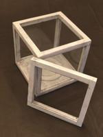 "Artisan Rustic Glass Display Case - 8"" W x 8"" H x 8"" D   The Farm Mechanic"