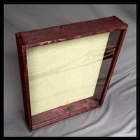 """Shadow Box - Artisan Rustic -12""""W x 16""""H x 4""""D Black Cherry"""