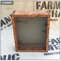 "Shadow Box - Artisan Rustic -12""W x 16""H x 4""D Cherry"