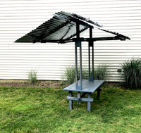 Deck Table with Steel Canopy