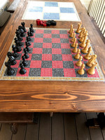 Mosaic Inlay Chess Board
