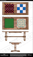 Nautical Picnic Table with Italian Vitreous Mosaic Tile Oversized Board Game Inlays and Artisan Nautical Benches | Custom Artisan Collection