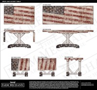 American Flag Drop-Leaf Accent Table | Custom Artisan Collection