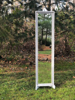 Artisan Slender Floor Mirror with Sculpted Easel Stand
