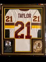 "Custom Sean Taylor Jersey Display Case – 28""W x 32""H x .5""D"