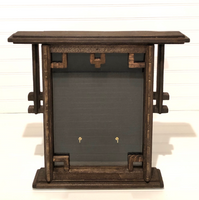 Art Deco Era Display Case with Two Bend Hooks| Artisan Rustic Collection