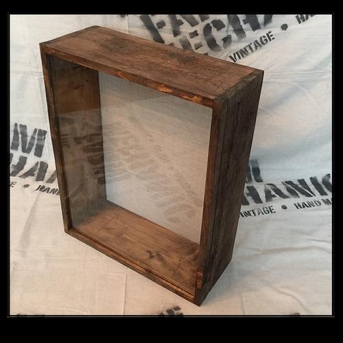 """Shadow Box - Artisan Rustic -16""""W x 16""""H x 3""""D Espresso"""