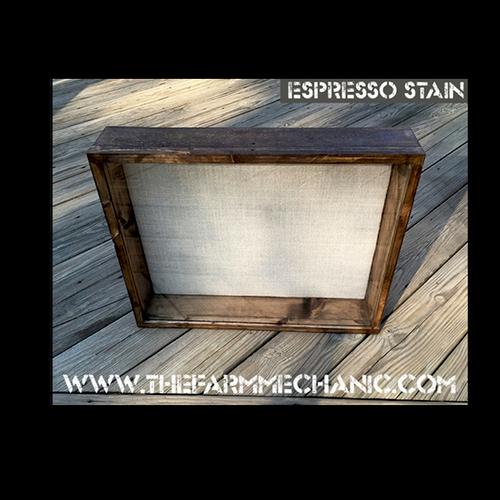 """Shadow Box - Artisan Rustic -24"""" W x 20"""" H x 5"""" D Espresso"""
