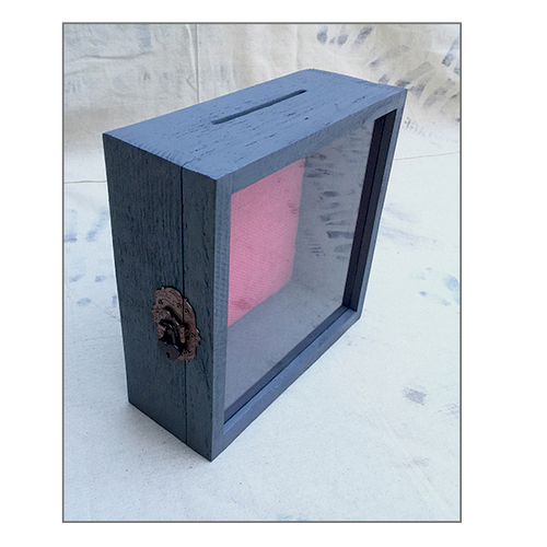 "Shadow Box -  Rustic Treasure Box - 10"" W x 10"" H x 3"" D"