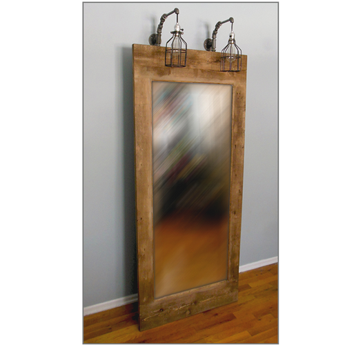Artisan Leaning Floor Mirror with Lights