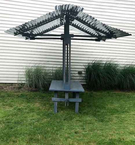 Artisan Galvanized Steel Canopy Table | Event Rental