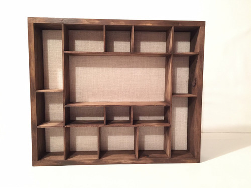 "Display Case - 25""W x 21""H x 4"" - Custom Shelving"