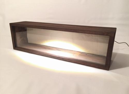 "LED Lighted Shadow Box - Artisan Rustic -28"" W x 7"" H x 5"" D Espresso"