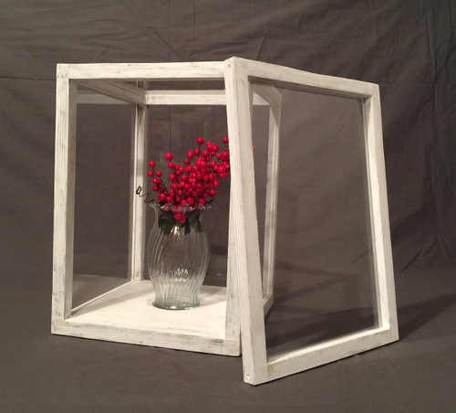 "Artisan Rustic Glass Display Case - 9"" W x 13"" H x 9"" D 