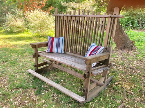 Outdoor Love Seat Rocking Chair | Event Decor Rental