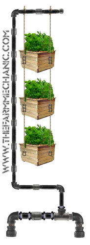 Black Pipe Multi-Tier Planter