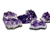 Amethyst Clusters - Vary in Size, Color, Weight and Shape.